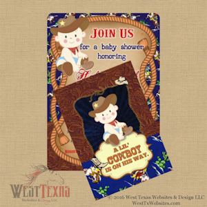 cowboy baby shower invitations west texas websites and design llc